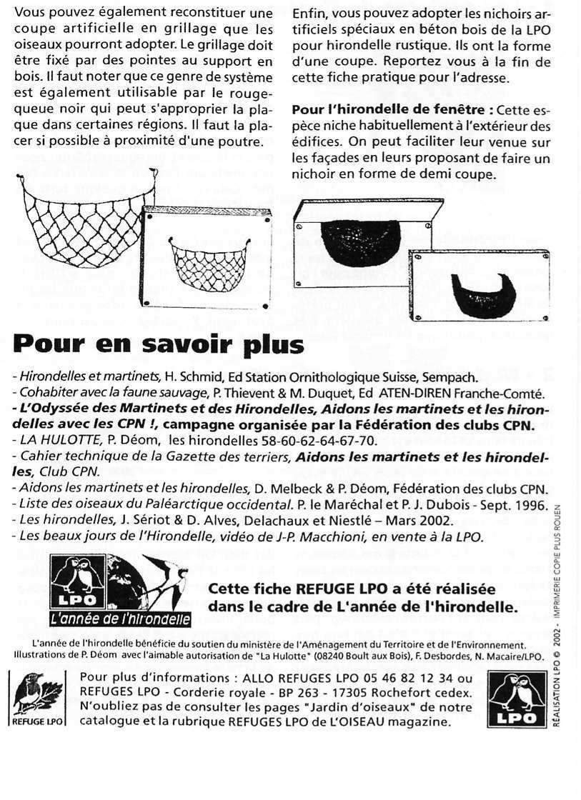 Fiche LPO: Les Hirondelles page 6